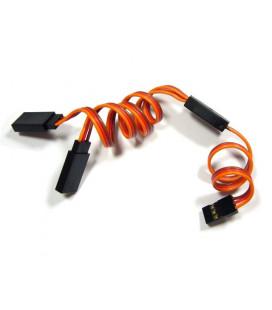 Cable servo en Y JR 25cm