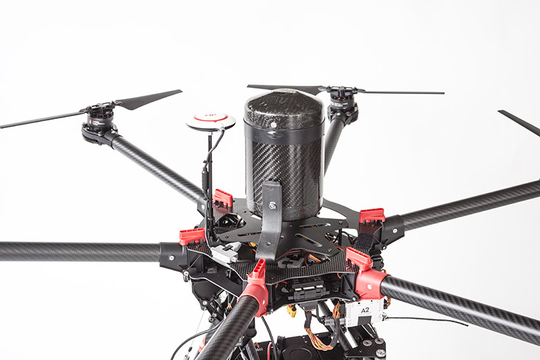 Flying Eye S900 with top mounted drone parachute